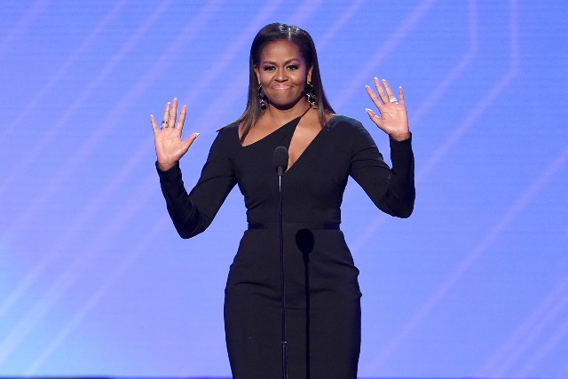 Michelle Obama speaks onstage at The 2017 ESPYS at Microsoft Theater