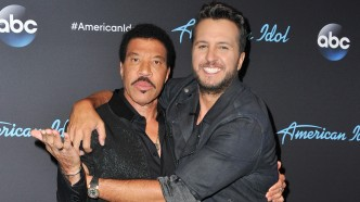 Lionel Richie and Luke Bryan arrive