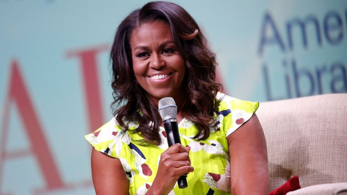 Michelle Obama discusses her forthcoming memoir titled, 'Becoming', during the American Library Association Annual Conference
