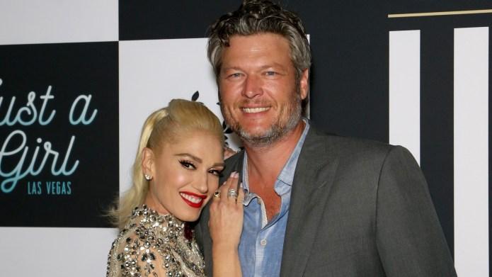 Gwen Stefani and Blake Shelton attend