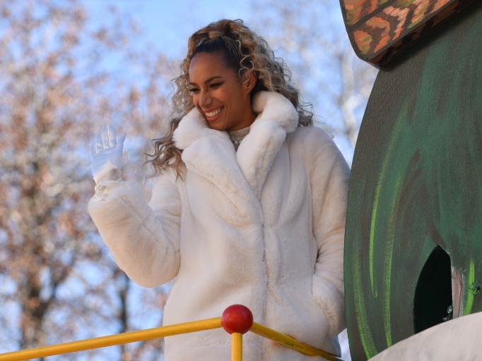 Leona Lewis rides in the 92nd Annual Macy's Thanksgiving Day Parade on November 22, 2018