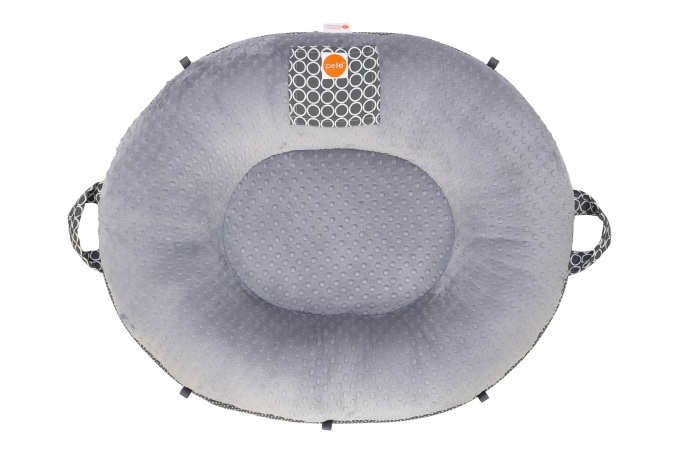 Majestic Gray Oval Floor Pillow
