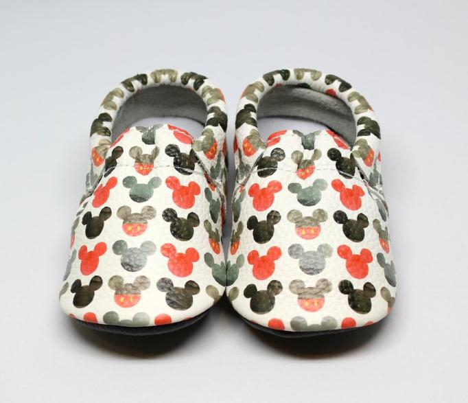 Mia Mouse Leather Moccasins