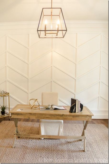 Cheap Wall Covering Ideas: DIY Molding Accent Wall