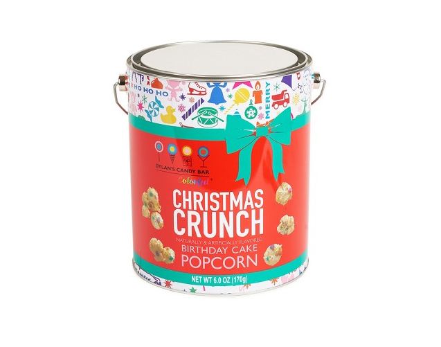 Dylan's Candy Bar Christmas Crunch holiday popcorn tin