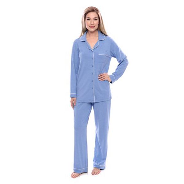 Women's Button-Up Long-Sleeve Pajamas