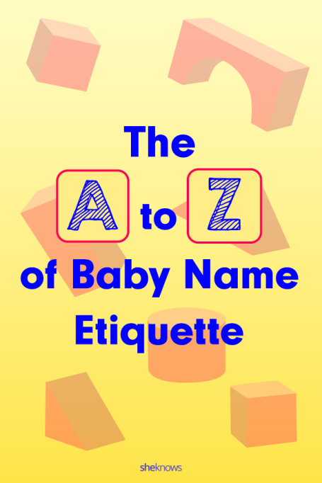 Baby Name Etiquette