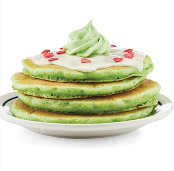 photo of Grinch's green pancakes