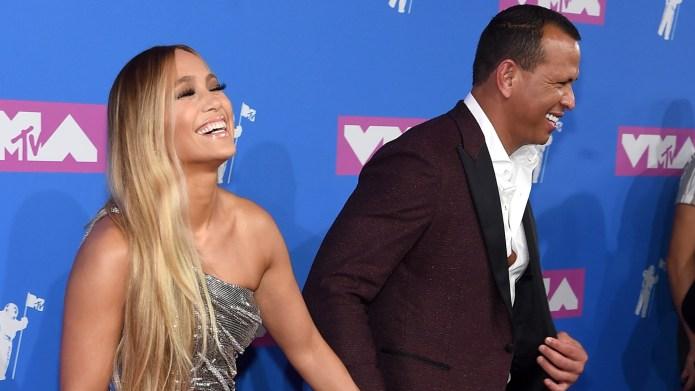 Alex Rodriguez and Jennifer Lopez attends