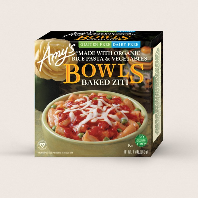 Healthy Frozen Kid Meals Amy's Baked Ziti Bowl