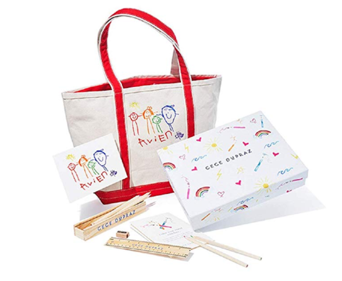 photo of Cece DuPraz Children's Custom Artwork Tote Bag Gift Set