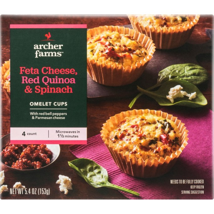 Archer Farms Feta Cheese, Red Quinoa & Spinach Frozen Omelet Cups