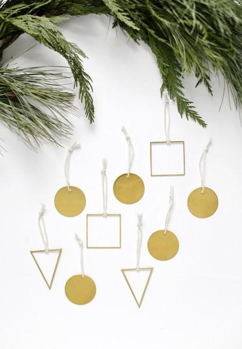 DIY Brass Geometric Ornaments