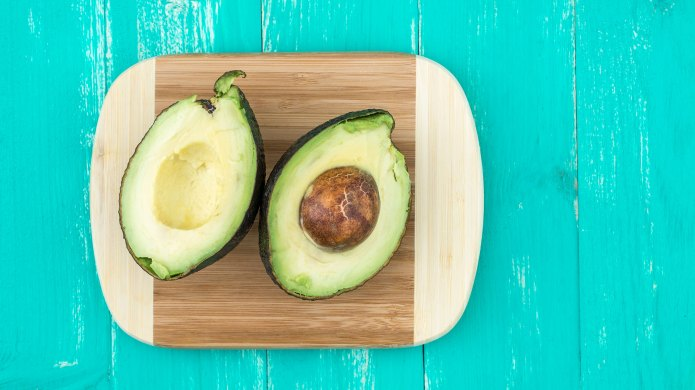 Avocado on cutting board