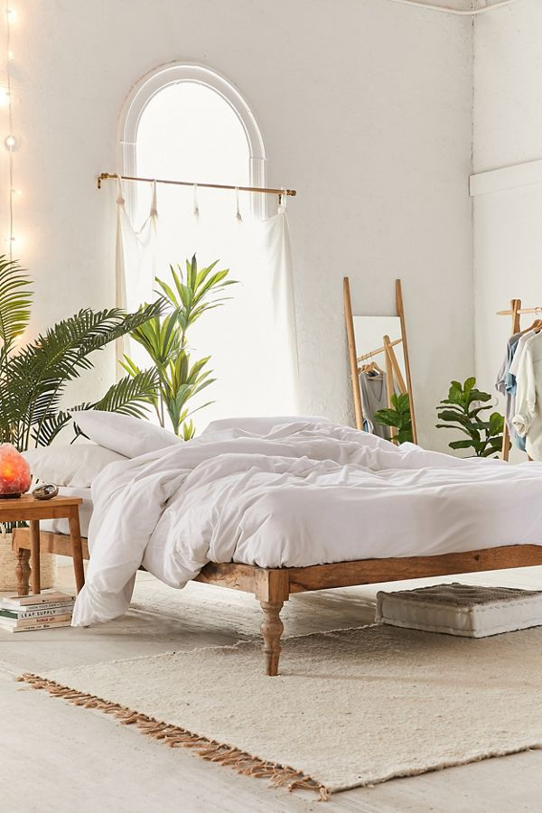 Bohemian platform bed at Urban Outfitters.