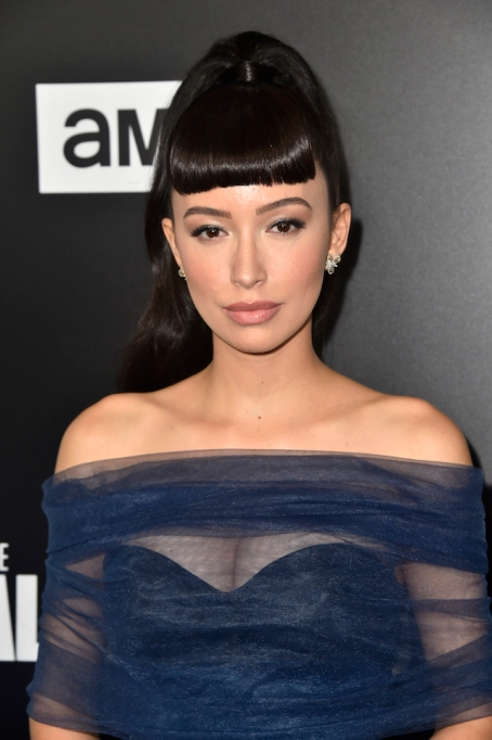 Christian Serratos attends the Premiere of AMC's 'The Walking Dead' Season 9