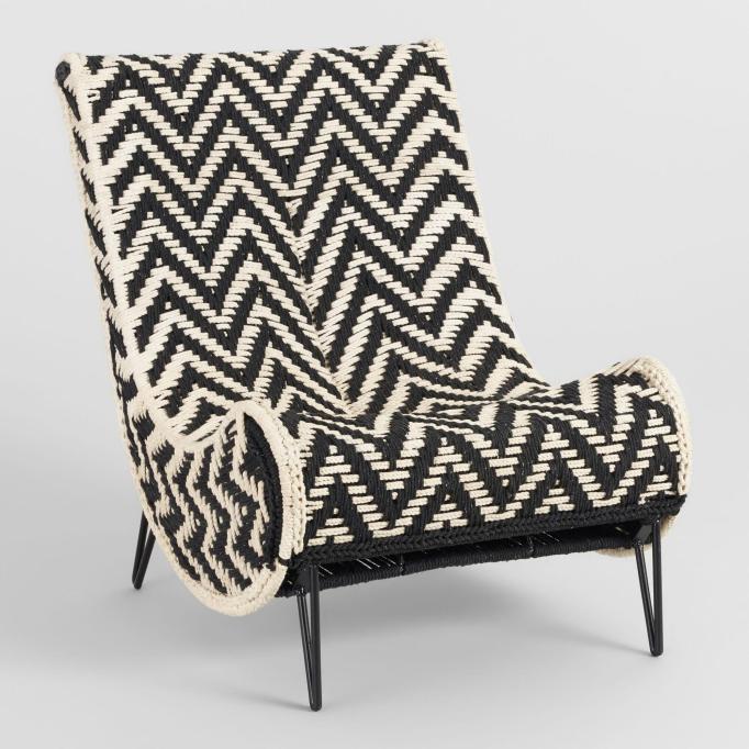 Black and white Chindi slipper chair at World Market.