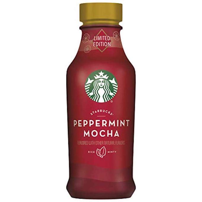 photo of Starbucks iced latte peppermint mocha