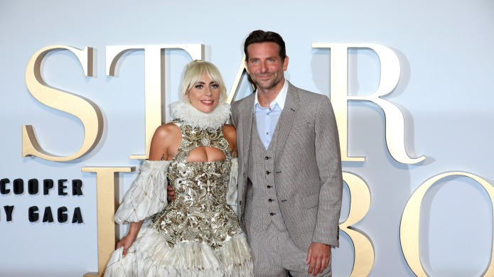 Lady Gaga and Bradley Cooper attend