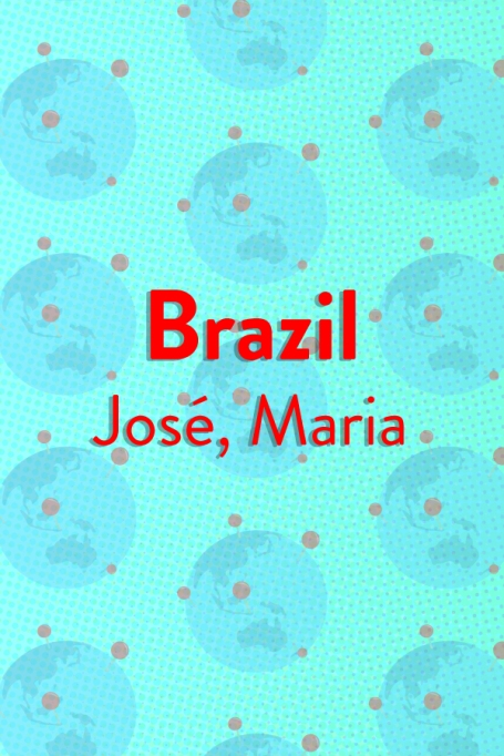 The Top Baby Names in (Almost) Every Country of the World: Brazil