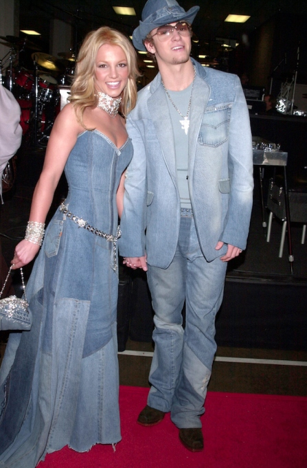 Britney Spears and Justin Timberlake, backstage at the 28th annual American Music Awards, held at the Shrine Auditorium.