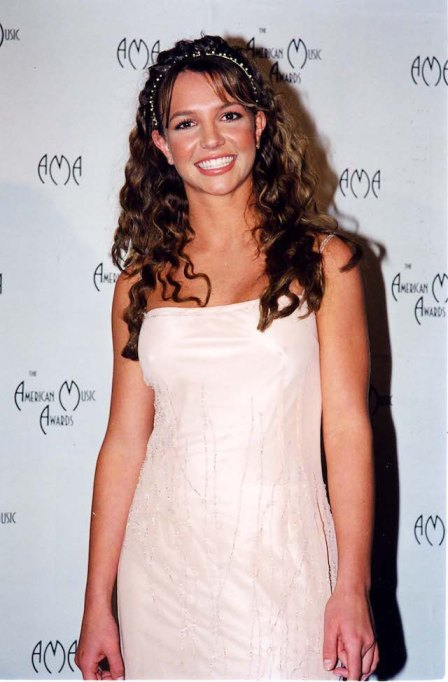 Britney Spears at the AMAs in 1998 in Los Angeles, California.