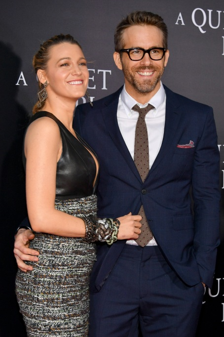 Blake Lively and Ryan Reynolds attend the 'A Quiet Place' premiere