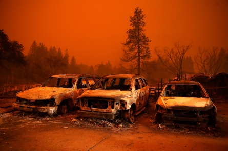 Unable to Flee Wildfire, California Mom