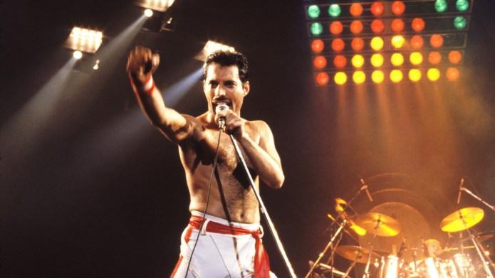 Freddie Mercury of Queen, 1982 Tour