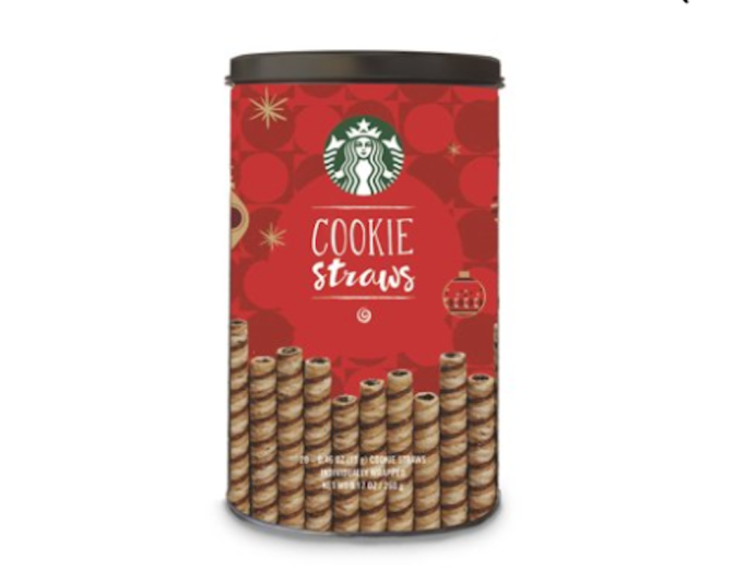 photo of Starbucks holiday cookie straws