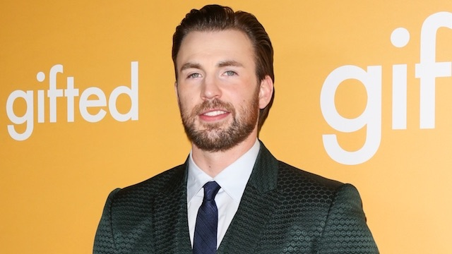 Chris Evans green suit