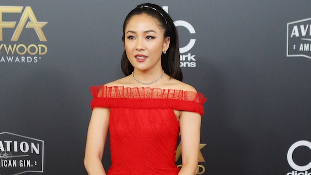 Constance Wu red dress