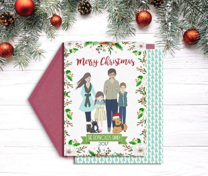 Custom Family Portrait Card