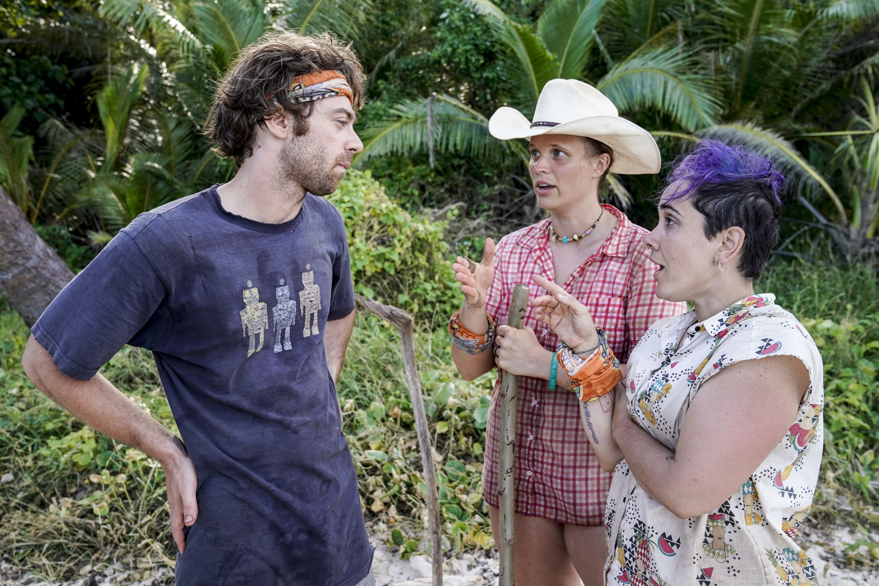 Christian Hubicki, Elizabeth Olson and Lyrsa Torres on Survivor: David vs. Goliath