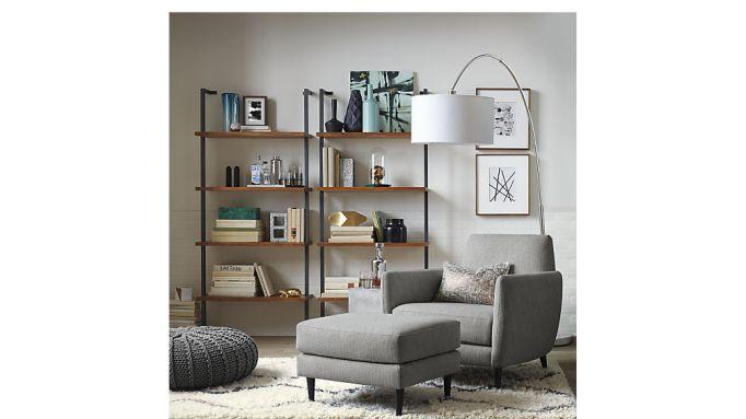 Acacia bookcase at CB2.