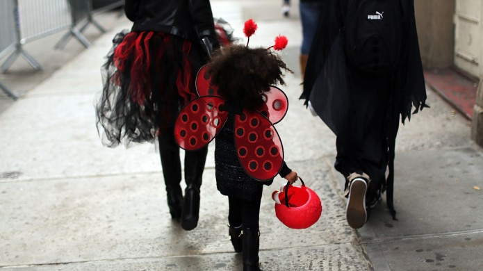 photo of girl in ladybug costume