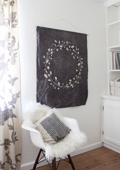 Cheap Wall Covering Ideas: DIY Batik Wall Hanging