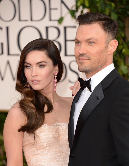 Megan Fox and Brian Austin Green arrive at the 70th Annual Golden Globe Awards