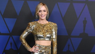 Emily Blunt arrives at the Academy