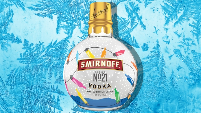 Smirnoff ornament bottle