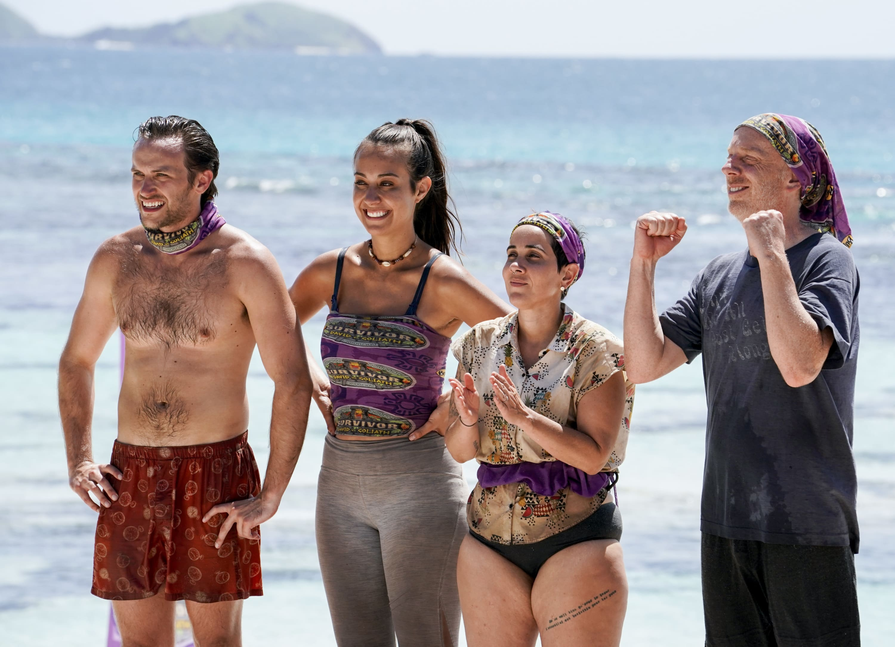 Nick Wilson, Angelina Keeley, Lyrsa Torres and Mike White on Survivor: David vs. Goliath