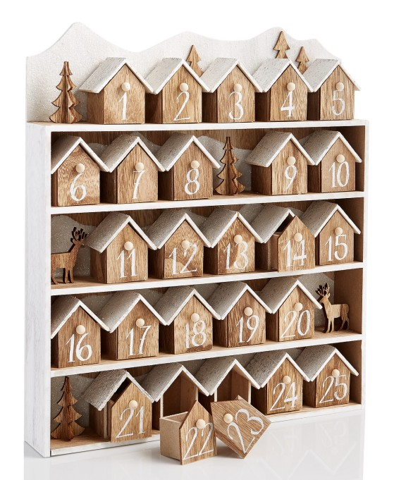 Holiday Lane Wood Houses Advent Calendar