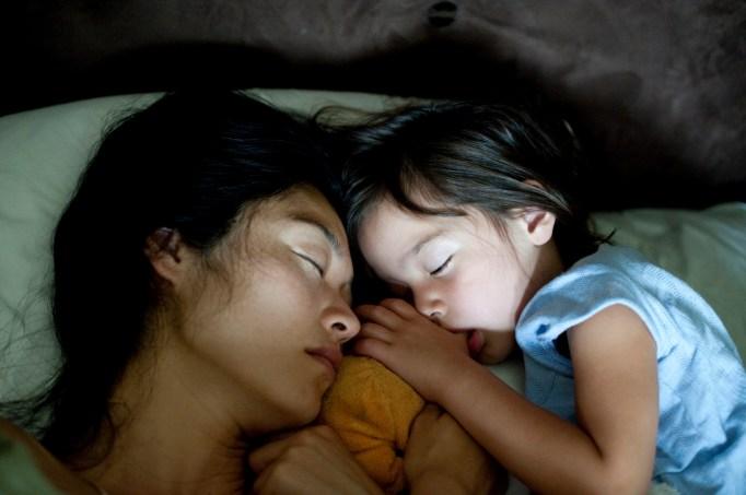 Mom and child sleeping