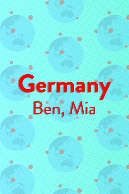 The Top Baby Names in (Almost) Every Country of the World: Germany