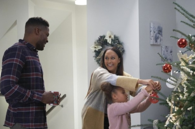 Tia Mowry-Hardrict and Duane Henry in Hallmark's 'A Gingerbread Romance.'