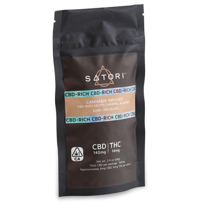 CBD-rich salted caramel almonds dark chocolate