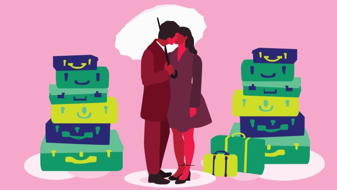 Couple with baggage