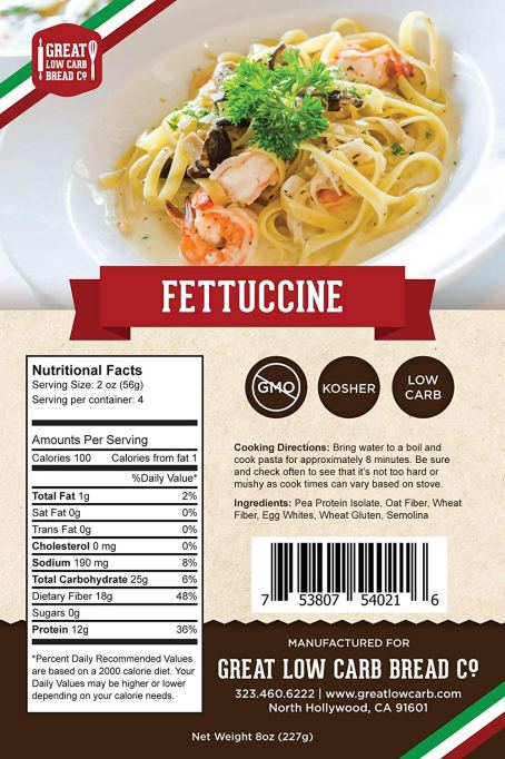 Great Low Carb Bread Co Fettucini