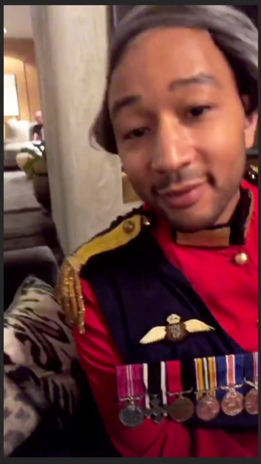 John Legend dresses as Prince Philip for Halloween