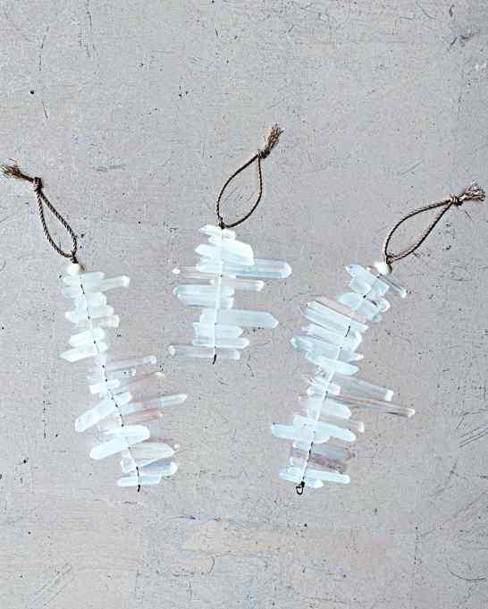 Quartz Icicle Ornaments